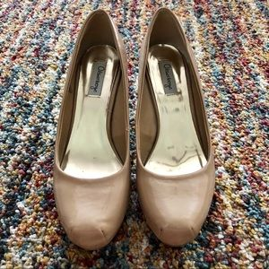 Olsenboye Pumps tan PU leather with stitched toes